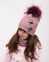 Зимний детский набор шапка и снуд , Дембохаус. Шая , от 1 до 3 лет