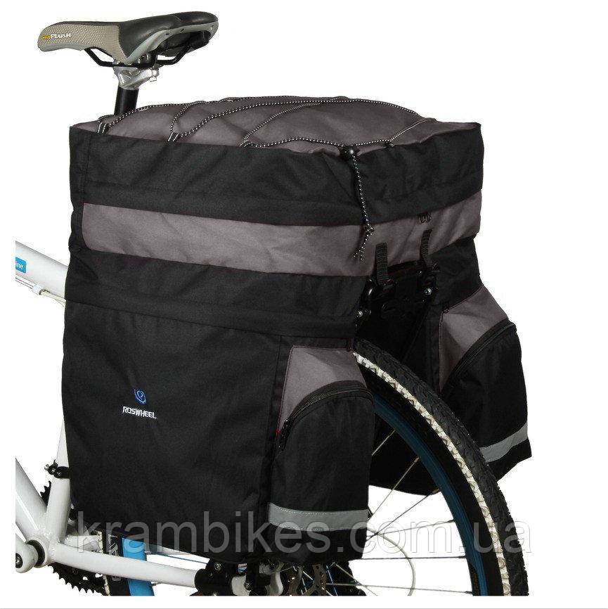 Сумка на багажник Roswheel - 14590-D Чёрный/Серый
