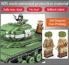 Танк ИС-2М, военный конструктор, аналог Лего, фото 2