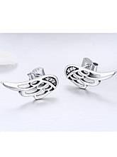 Серебряные серьги-гвоздики Крылья