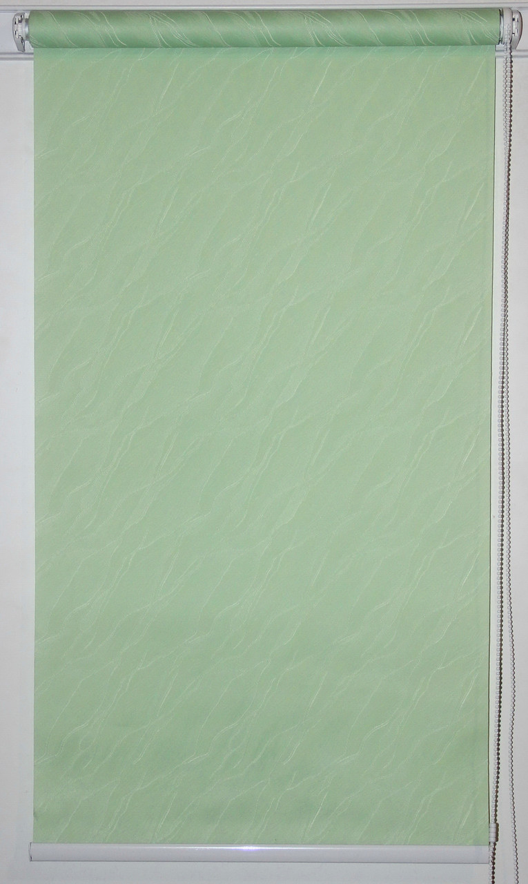 Готовые рулонные шторы 300*1500 Ткань Вода 2073 Зелёный