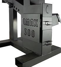 Воздухогрейная пеллетная печь с автоподачей Илмакс-330 длительное горение, горелка, бункер, турбина, фото 2