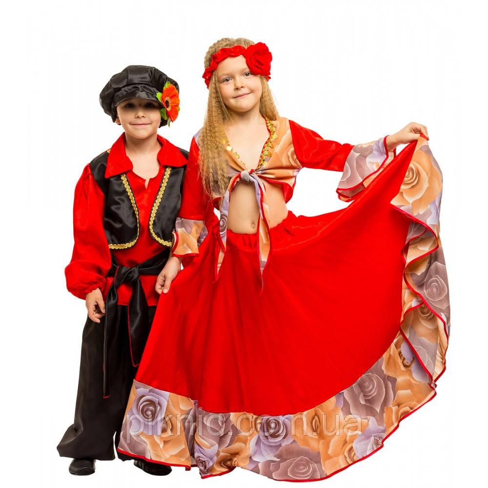 Костюм Цыганочка 7,8,9 лет Детский новогодний карнавальный костюм для девочки 344
