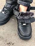 Зимние мужские кроссовки Nike Air Force Mid Winter Black с мехом теплые. Живое фото(Реплика ААА+), фото 2