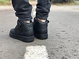 Зимние мужские кроссовки Nike Air Force Mid Winter Black с мехом теплые. Живое фото(Реплика ААА+), фото 5