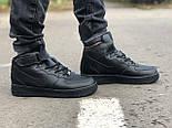 Зимние мужские кроссовки Nike Air Force Mid Winter Black с мехом теплые. Живое фото(Реплика ААА+), фото 7