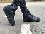 Зимние мужские кроссовки Nike Air Force Mid Winter Black с мехом теплые. Живое фото(Реплика ААА+), фото 9