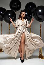 Женское коктейльное шелковое платье-макси с разрезом (Ариада jd), фото 2