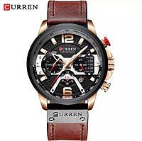 Мужские стильные водонепроницаемые часы CURREN 8329 Rose Gold Black