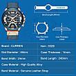 Чоловічі стильні водонепроникні годинники CURREN 8329 Rose Gold Black, фото 6