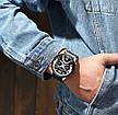 Чоловічі стильні водонепроникні годинники CURREN 8329 Rose Gold Black, фото 5