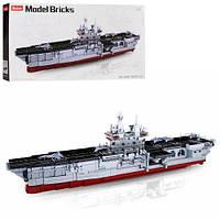 Конструктор SLUBAN M38-B0699 (4шт) военн.корабль(крейсер),1:450, самолеты, 1088дет,в кор, 76-38-9см