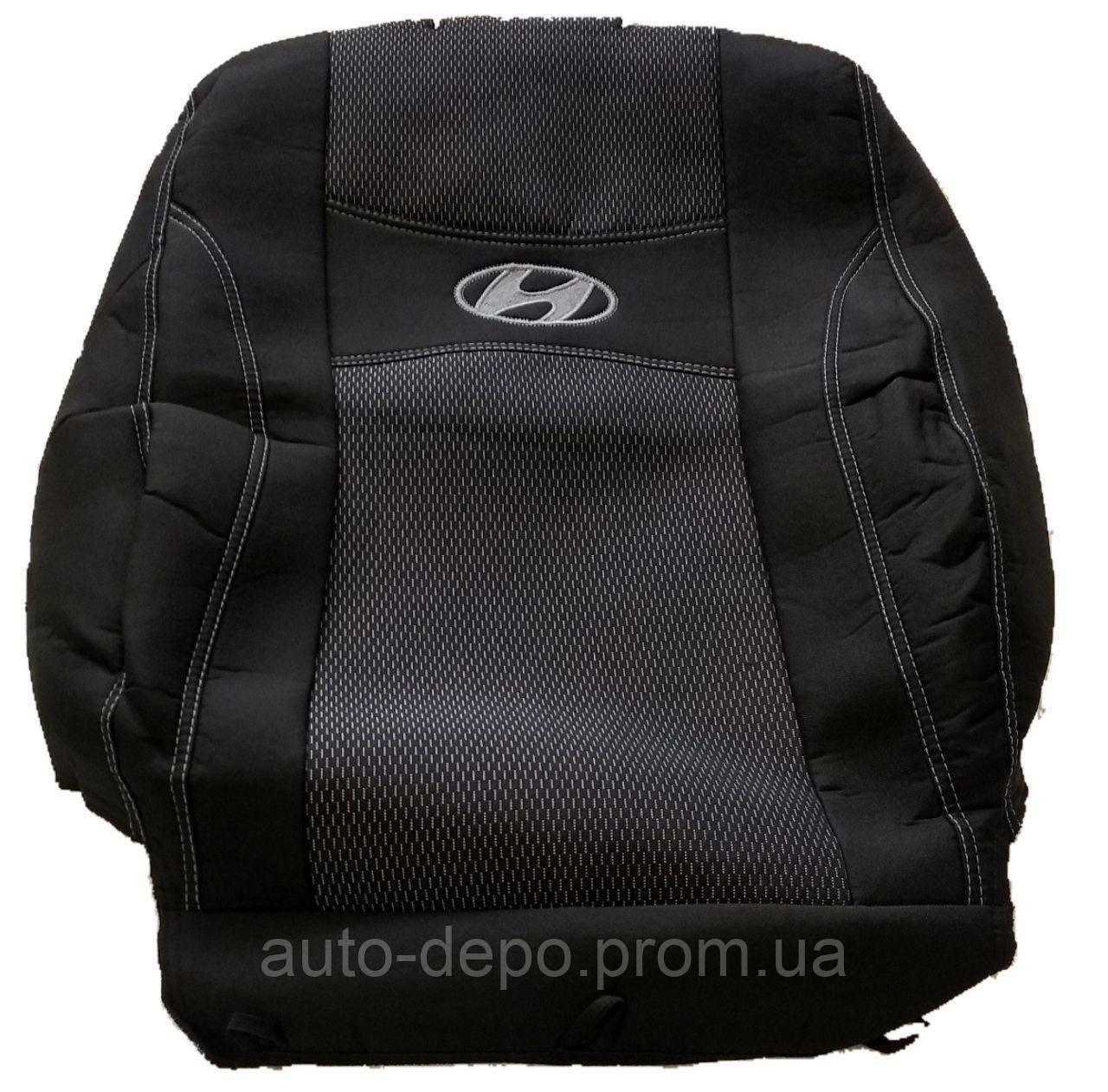 Авточохли на сидіння Хундай Санта Фе СМ з 2006-2012 р. в. Авточохли Hyundai Santa Fe CM 2006-2012 5 місць Nika