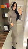 Теплое платье с капюшоном / ангора Арктика / Украина 1-511-1, фото 5