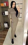 Теплое платье с капюшоном / ангора Арктика / Украина 1-511-1, фото 6