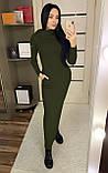 Теплое платье с капюшоном / ангора Арктика / Украина 1-511-1, фото 7