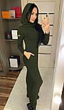 Теплое платье с капюшоном / ангора Арктика / Украина 1-511-1, фото 8