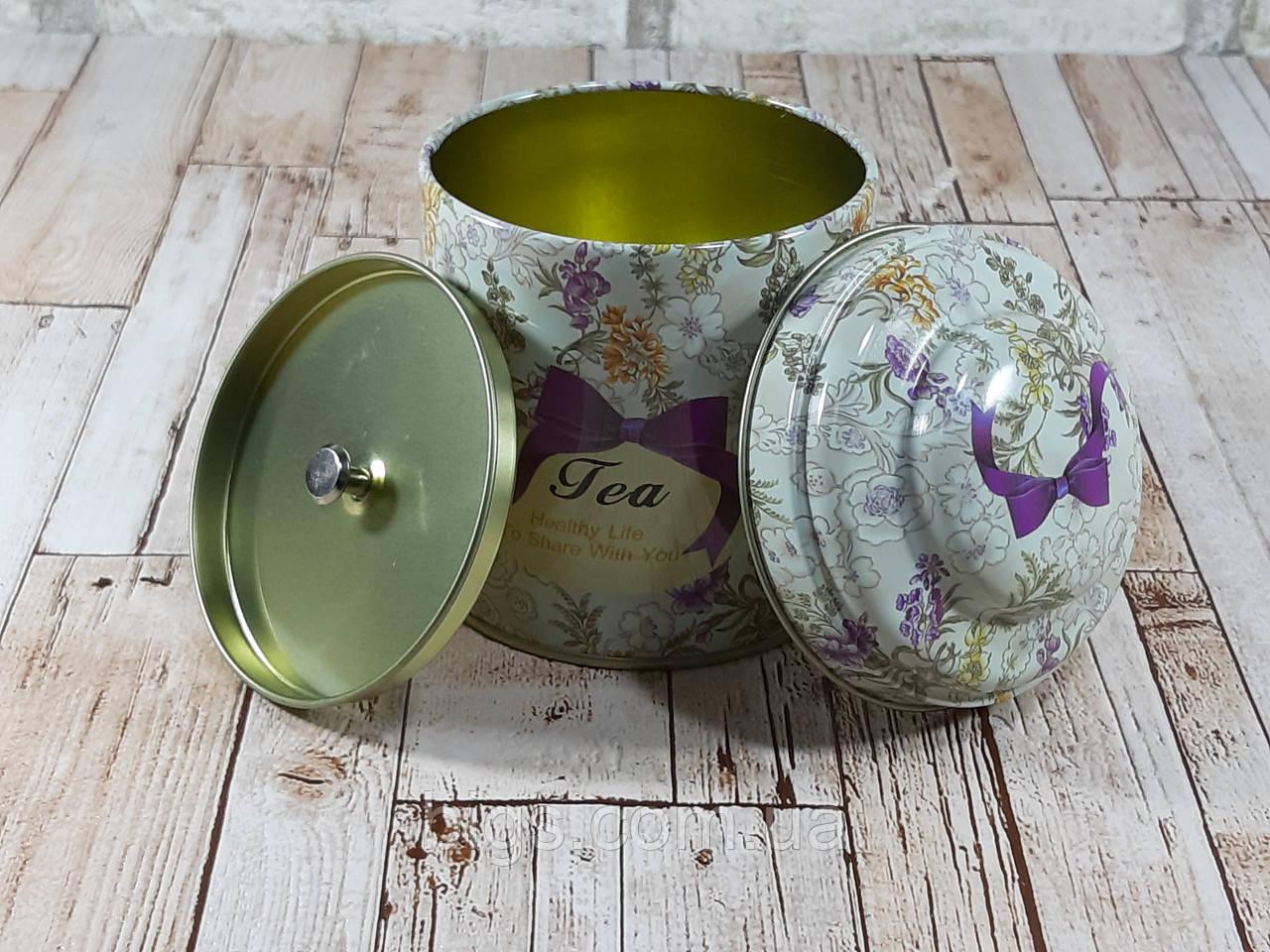 "Железная банка для чая и кофе 200г ""Квіткове асорті"" чай-прованс"