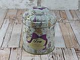 """Железная банка для чая и кофе 200г """"Квіткове асорті"""" чай-прованс, фото 5"""
