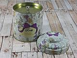 """Железная банка для чая и кофе 200г """"Квіткове асорті"""" чай-прованс, фото 4"""