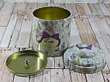 """Железная банка для чая и кофе 200г """"Квіткове асорті"""" чай-прованс, фото 6"""