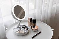 Косметическое дорожное зеркало My Foldaway Mirror c Led Подсветкой