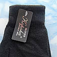 Рукавички жіночі теплі чорні, фото 3