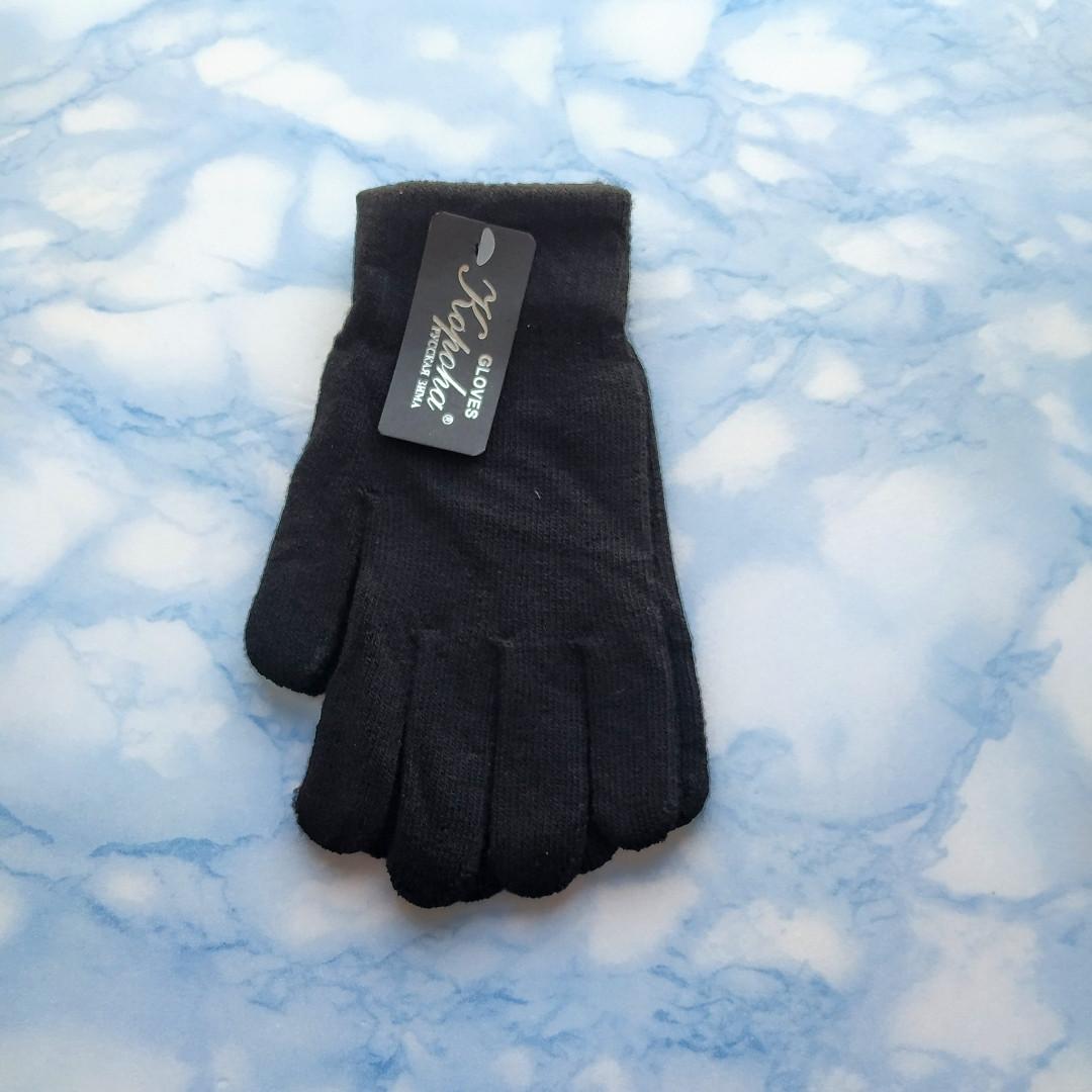 Рукавички жіночі теплі чорні