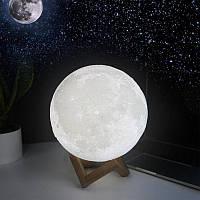 Детский ночник Луна 3D Moon Light  5 режимов диаметр 15 см