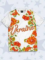 Футболка детская Україна квіти