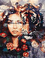 Картина по номерам 40х50 по дереву Глаза тигра, Rainbow Art (GXT23607)