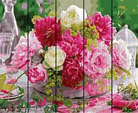 Картина по номерам 40х50 по дереву Пионы для любимой, Rainbow Art (GXT24756)