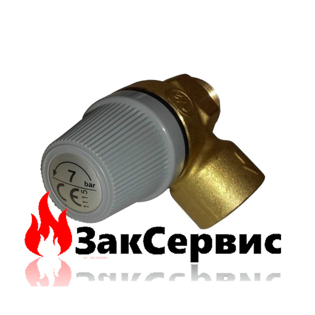 Клапан предохранительный 1/2 - 7 бар для газовых котлов Ferroli DomOasi 39809000