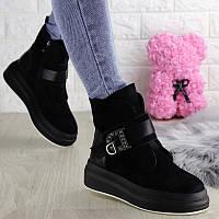 Женские зимние замшевые ботинки Marty, черные