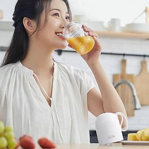 Беспроводной стакан блендер Xiaomi Deerma DEM-NU01 (300 мл) White, фото 3