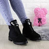 Женские красивые зимние ботинки Tutti черные
