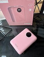 Power Bank быстрой зарядки 10 тыс.мАч,Vidvie PB746,2 usb порта,белый розовый