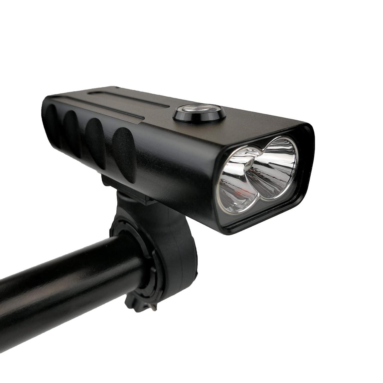 Велосипедна LED фара T6/L2 USB 1000lumens чорна