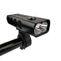 Велосипедна LED фара T6/L2 USB 1000lumens чорна, фото 1