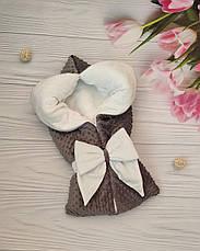 """Зимний плюшевый конверт-одеяло на выписку """"Минки"""", конверт на выписку из роддома, фото 2"""
