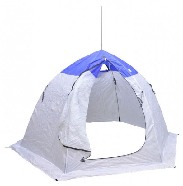 Палатка зимняя шестигранная Fishing ROI white-blue