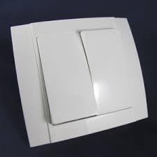 Выключатель двойной керамический