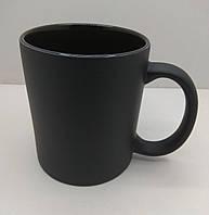 Чашка для сублимации Хамелеон Full black матовый (черный)