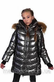 Детское пальто для девочек Freever (4404) Хаки, 146
