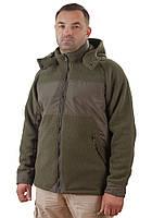 Теплая мужская куртка с капюшоном (размеры L-3XL)