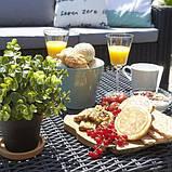 Стіл садовий вуличний Allibert California Coffee Table Graphite ( графіт ) з штучного ротанга, фото 2