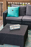 Стіл садовий вуличний Allibert California Coffee Table Graphite ( графіт ) з штучного ротанга, фото 5