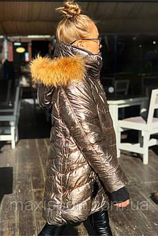 Детское пальто для девочек Freever (4404) Золотой, 158