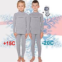 Детское теплое термобелье Radical Snowman (original), зимнее, комплект, светло-серый
