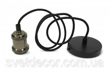 Светильник Подвесной Декоративный VIDEX Е27 1,1м Алюминий черный